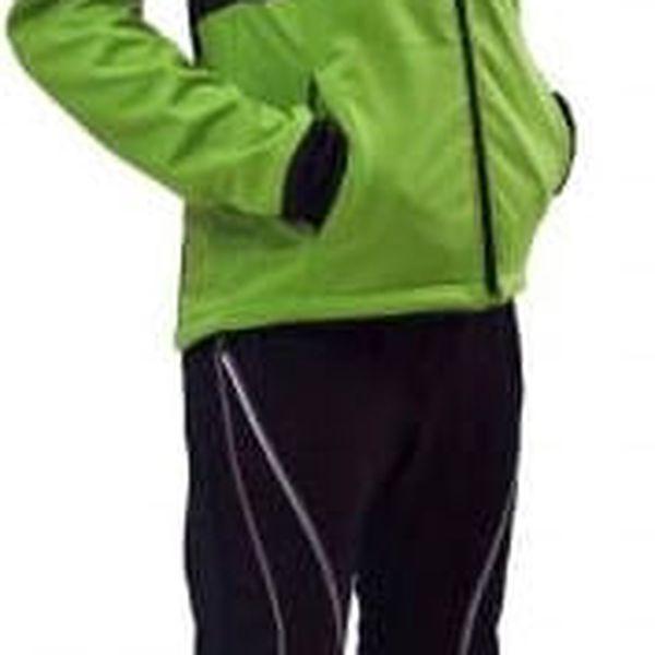 Pánská odlehčená softshellová bunda / vesta Envy KATTYN Green Black s3