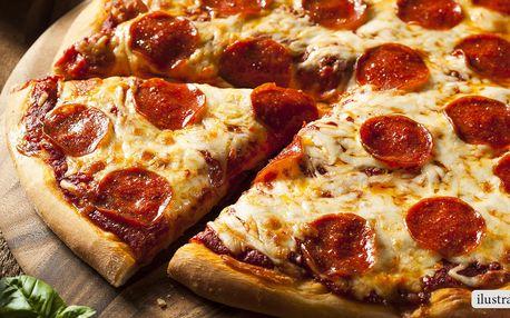 2 maxi pizzy s rozvozem v okolí Kuřimi