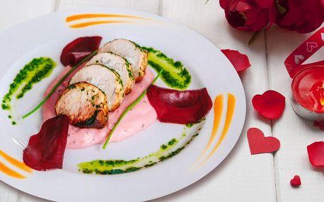 Oslavte Valentýna: 5chodové menu a prosecco