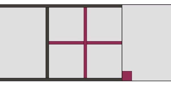 LOBO, závěsná skříňka, šedý grafit/bílá, barva iguana