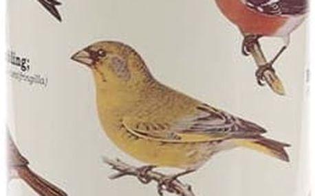 Bílá termoska s potiskem ptáků Gift Republic