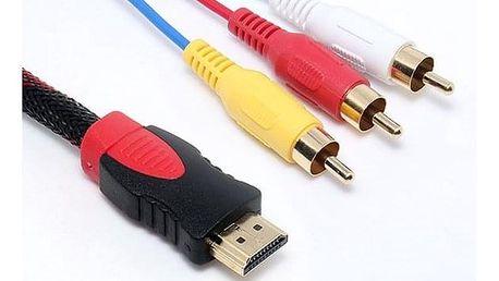 HDMI / 3x RCA adaptér - 1,5 m kabel