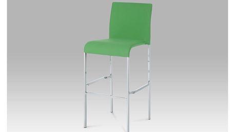 Barová židle WB-5010 GRN2, chrom/zelená