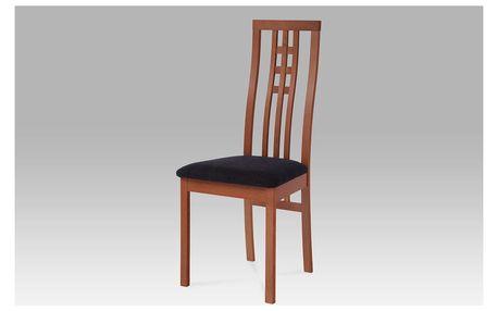 Dřev. židle BC-12481 TR3, třešeň,BEZ SEDÁKU