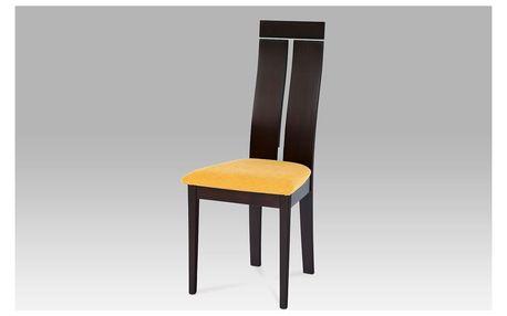 Dřevěná židle, BC-22403 BK, bez sedáku