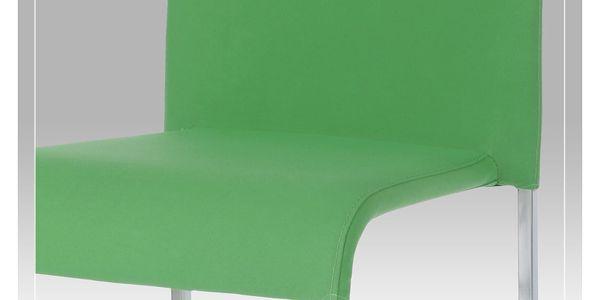 Barová židle WB-5010 GRN2, chrom/zelená2