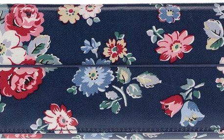 Tmavě modré pouzdro na doklady s květinami Cath Kidston