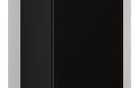 Závěsná vitrína VIGO, černá/černý lesk