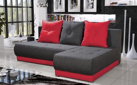 Rohová sedačka INSIGNIA 17, šedá/červená