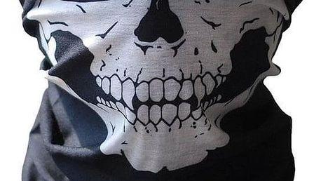 Ochranná maska na obličej s lebkou