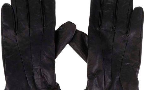 Černé kožené rukavice Jack & Jones Max