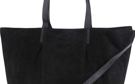 Černá semišová velká kabelka Pieces Paku