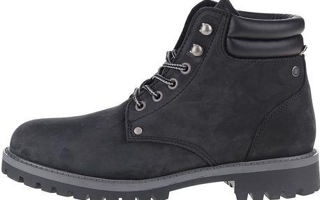 Černé kožené kotníkové zimní boty Jack & Jones Stoke