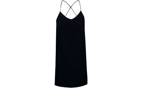 Tmavě modré šaty na ramínka ICHI Bess