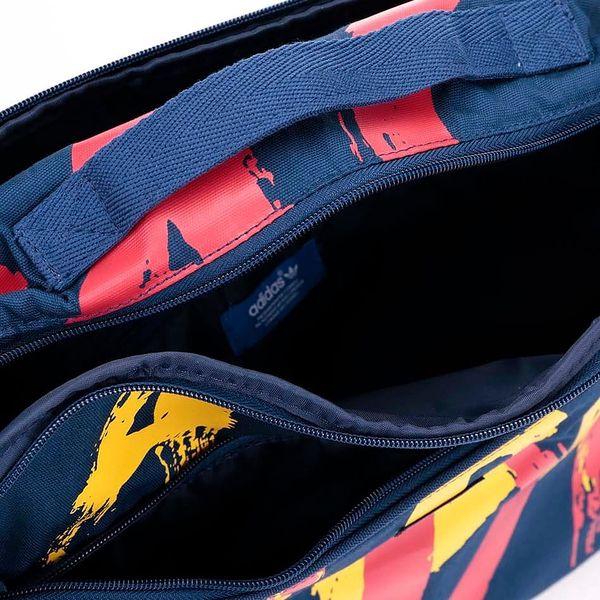 Tmavě modrá dámská taška s potiskem adidas Originals Paris3