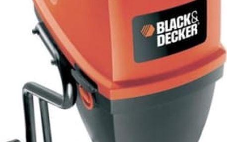 Drtič zahradního odpadu Black-Decker GS2400 černý/červený