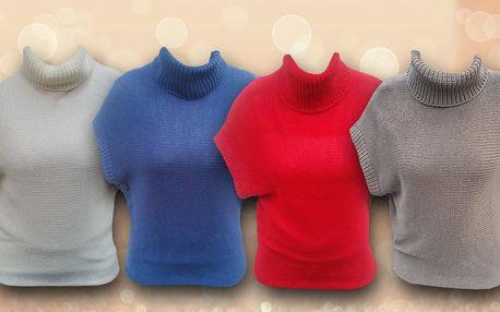 Hřejivý dámský svetr bez rukávů