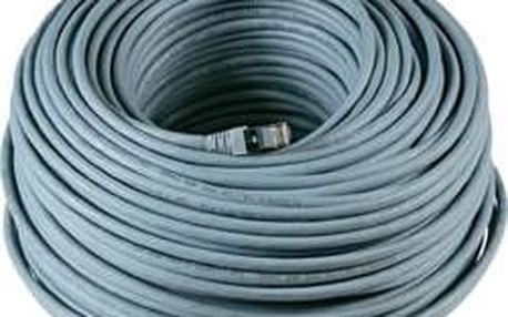 RJ45 kabel k/pro síťový EFB Elektronik CAT 6A, S/FTP, 70 m, šedá