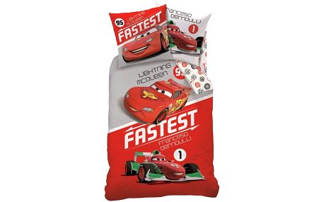 Povlečení Cars Fastest 140x200,70x90