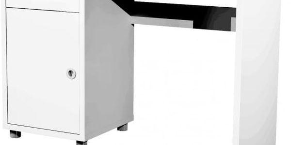 Box - psací stůl (1x dveře, 1x šuplík)