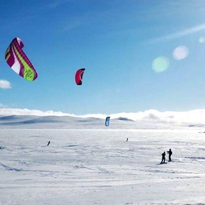 Kurz snowkitingu s ubytováním v Norsku, ideální příležitost naučit se plně snowkitingu.