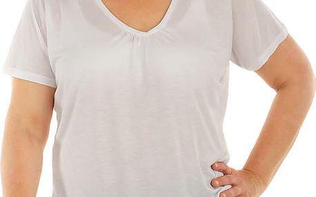 Dámské tričko ve větších velikostech bílá