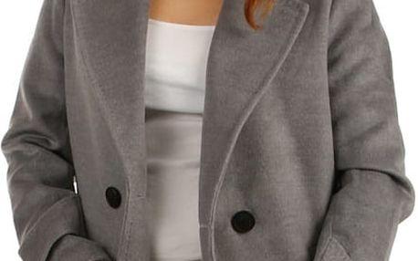 Dámský oversized kabátek na knoflík béžová