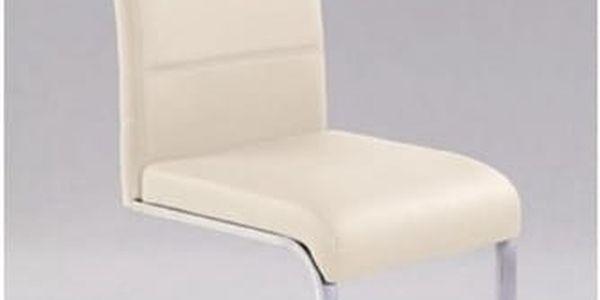 Kovová židle K85 tmavě krémová5