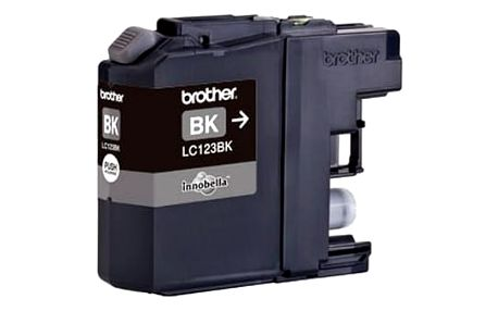 Inkoustová náplň Brother LC-123BK, 600 stran - originální (LC123BK) černá