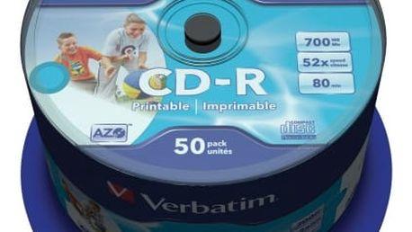 Verbatim CD-R DataLife Protection 52x, 50ks cakebox (43309)