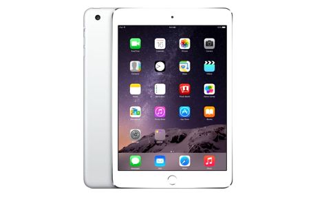 Apple iPad mini 3, 64 GB, Wi-Fi + LTE, stříbrný