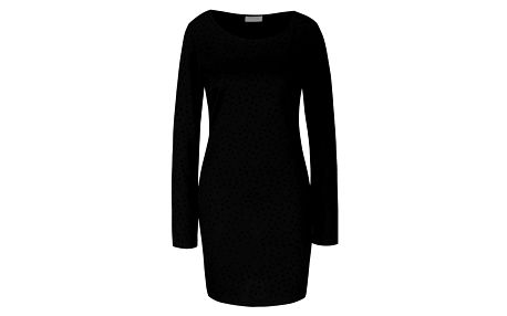 Černé šaty s plastickými puntíky VILA Tinny