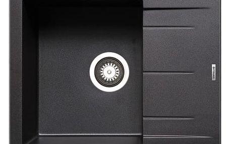Alazia-Granitový dřez 59x50,černá