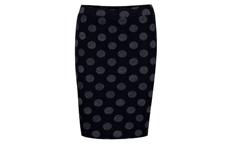 Tmavě modrá sukně s třpytivými puntíky VILA Fellow