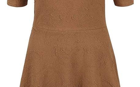 Hnědé šaty se vzorem VERO MODA Marianne