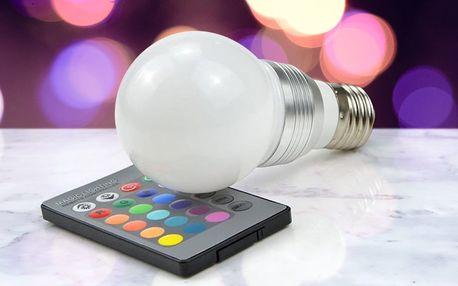 Barevná žárovka s dálkovým ovládáním