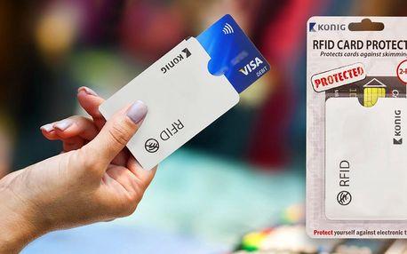Dva bezpečnostní obaly na kreditní karty