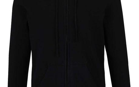 Černý lehký svetr se zipem a kapucí ONLY & SONS Alexander