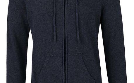 Tmavě modrý svetr se zipem a kapucí ONLY & SONS Alexander