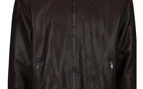 Hnědá koženková bunda Burton Menswear London