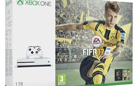 Herní konzole Microsoft 1 TB + FIFA 2017 (234-00032) bílá