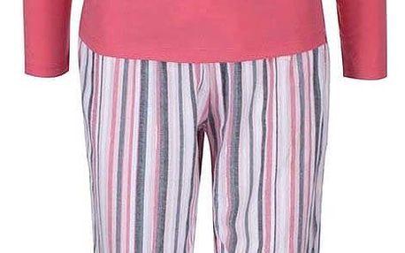 Růžové pyžamo s pruhovanými kalhoty Lipsy Dreamer