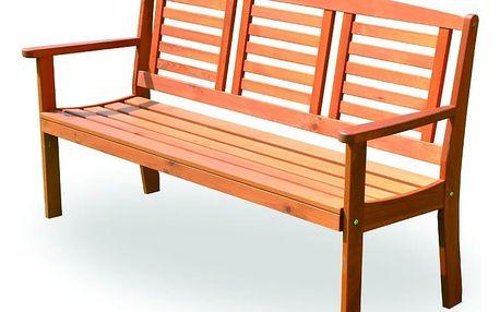 Dřevěná zahradní lavice EDEN FSC - ROZBALENO