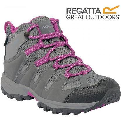 Dětské vysoké boty Regatta RKF340 GARSDALE MID Jnr Stell/VivVio 30