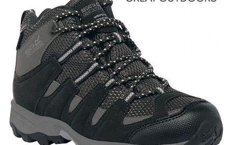 Dětské vysoké boty Regatta RKF340 GARSDALE MID Jnr Black/Granit 30