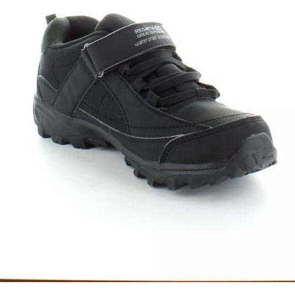 Chlapecká obuv Regatta RKF366 TRAILSPACE LOW Jr Black/Pigeon 302