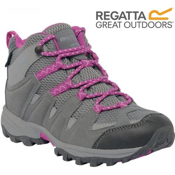 Dětské vysoké boty Regatta RKF340 GARSDALE MID Jnr Stell/VivVio 33