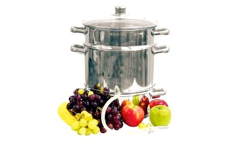 Nerezový hrnec na odšťavování a vaření v páře 5 l BIOWIN