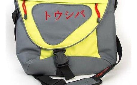 """Brašna na notebook Toshiba 15,6"""", šedá/zelená + SLEVA DPH v KOŠÍKU"""