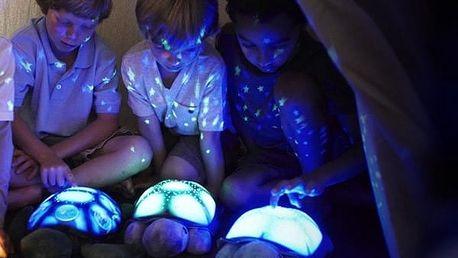 Svítící a hrající želva